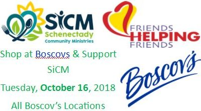 October 16th: Boscov's Friends Helping Friends Fundraiser